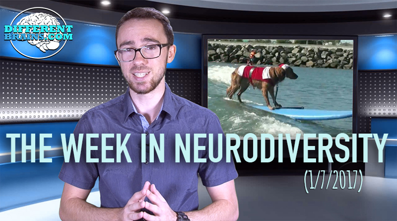 A Dog Surfs For PTSD!? – Week In Neurodiversity (1/7/17)