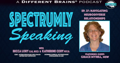 Episode 27 - Navigating Neurodiverse Relationships, with Grace Myhill, MSW | Spectrumly Speaking ep. 27