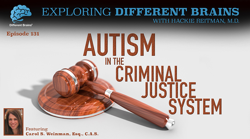 Autism In The Criminal Justice System, With Carol S. Weinman, Esq., C.A.S. | EDB 131