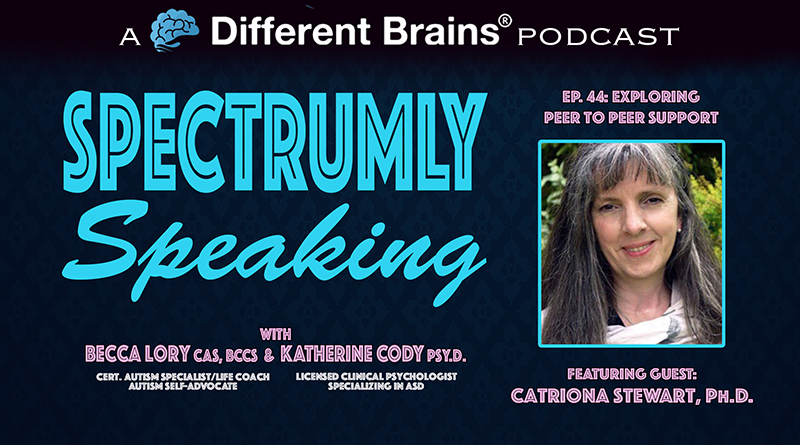 Exploring Peer To Peer Support For People With Autism, With Catriona Stewart, Ph.D. | Spectrumly Speaking Ep. 44